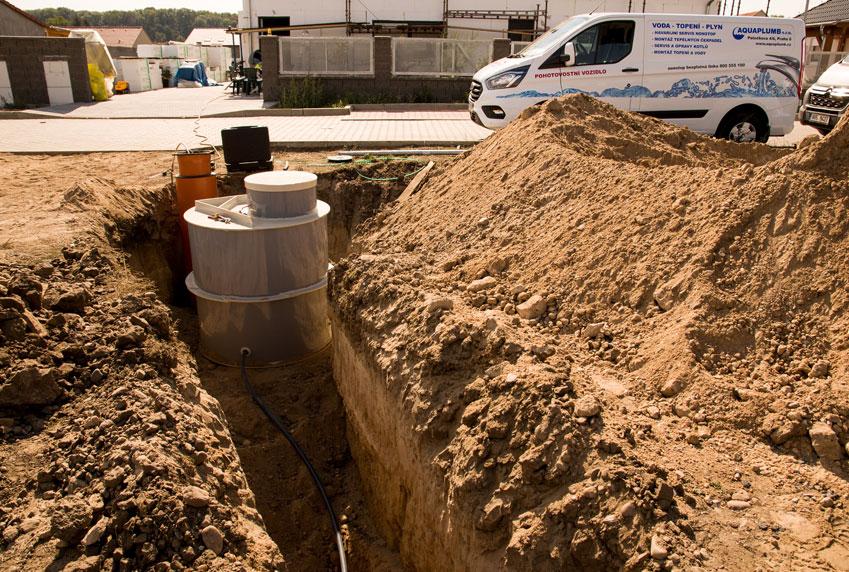 Realizace kanalizace a odpadů